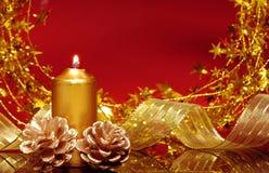 красный цвет орнамента рождества Стоковая Фотография