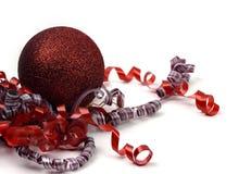 красный цвет орнамента рождества Стоковое фото RF