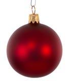 красный цвет орнамента рождества шарика Стоковое Фото