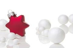Красный цвет орнамента рождества Стоковые Изображения
