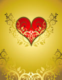 красный цвет орнамента сердца цветка Иллюстрация штока
