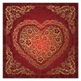 красный цвет орнамента сердца Стоковые Фотографии RF