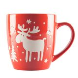красный цвет орнамента чашки Стоковое фото RF