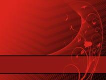 красный цвет орнамента Иллюстрация вектора