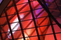 красный цвет освещенный решеткой Стоковая Фотография RF