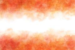 Красный цвет осени покрасил акварель абстрактная или винтажная предпосылка краски Стоковое Изображение RF