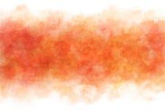 Красный цвет осени покрасил акварель абстрактная или винтажная предпосылка краски Стоковые Фотографии RF