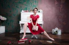 Красный цвет основа Стоковые Изображения
