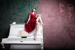Красный цвет основа Стоковое Фото
