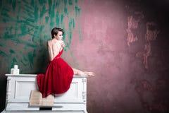 Красный цвет основа Стоковая Фотография