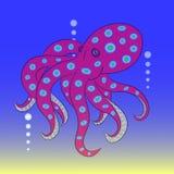 Красный цвет осьминога Стоковое Фото