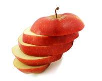 красный цвет отрезанный яблоком Стоковое Изображение RF