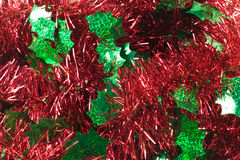 красный цвет падуба гирлянды альфаы Стоковое фото RF