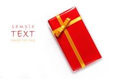 красный цвет пакета подарка Стоковое Изображение RF