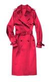 красный цвет пальто женский стоковое изображение rf