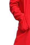 красный цвет пальто карманный стоковая фотография rf