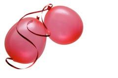 красный цвет партии воздушных шаров Стоковые Изображения RF