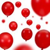 красный цвет партии воздушных шаров Стоковое фото RF