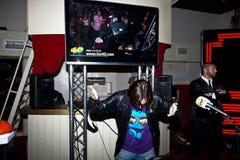 красный цвет партии девушки диско Стоковая Фотография RF