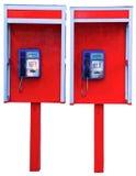 Красный цвет переговорной будки Стоковое Изображение RF