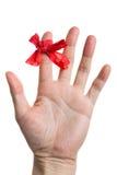 красный цвет перста смычка Стоковая Фотография