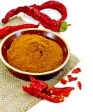 Красный цвет перца в гончарне на увольнении Стоковое Фото