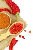 Красный цвет перца в шаре на увольнении Стоковое Фото