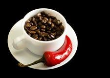 красный цвет перца кофе Стоковая Фотография