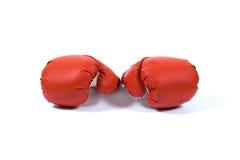 красный цвет перчатки бокса Стоковое фото RF