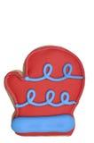 красный цвет перчатки печенья стоковая фотография