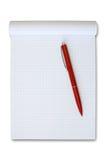 красный цвет пер примечания книги Стоковые Фотографии RF