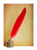 красный цвет пер чернил Стоковая Фотография RF