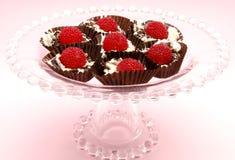 красный цвет печенья ягоды cream Стоковые Фотографии RF