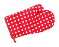 красный цвет печи перчатки Стоковое Изображение
