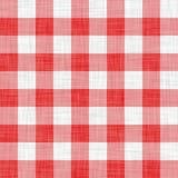 красный цвет пикника ткани Стоковые Фотографии RF