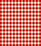 красный цвет пикника ткани Стоковое Фото