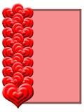 красный цвет пинка сердец предпосылки Стоковая Фотография