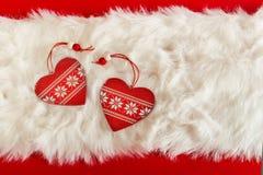 красный цвет пинка сердец рождества золотистый Стоковое Фото