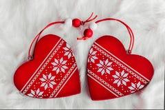 красный цвет пинка сердец рождества золотистый Стоковое фото RF