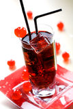 красный цвет питья Стоковая Фотография