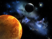 красный цвет планеты иллюстрация вектора