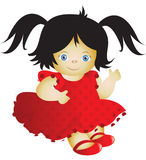 красный цвет платья куклы Стоковое Изображение RF