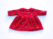 красный цвет платья куклы Стоковое фото RF