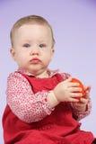 красный цвет платья ребенка Стоковые Изображения RF