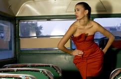 красный цвет платья Стоковые Изображения