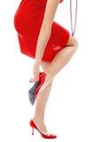 красный цвет платья Стоковое Изображение