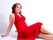красный цвет платья Стоковые Фото