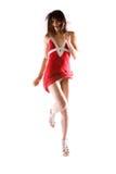красный цвет платья Стоковая Фотография