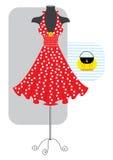 красный цвет платья бесплатная иллюстрация