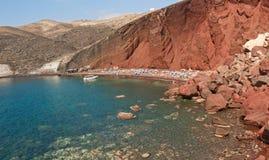 красный цвет пляжа Стоковое Изображение RF